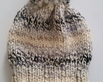 Pompom Knit Toque