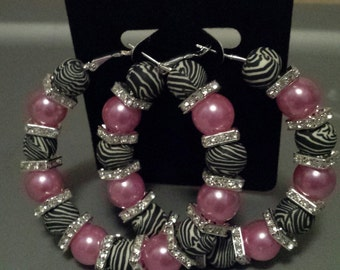 Basketball wives inspired pink zebra hoop