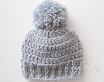 Pompom Baby Hat, Baby Boy Hat, Mohair Baby Hat, Pom Pom Newborn Hat, Newborn Boy Hat, Soft Baby Boy Hat, Crochet Hats Boys, Baby Boy Outfits