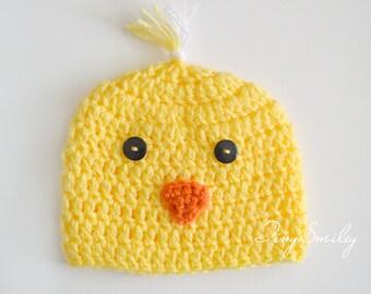 Chick Newborn Hat, Chick Baby Hats, Crochet Birdie Hat, Yellow Chick Hat, Animal Newborn Hat, Photography Prop, Newborn Baby Outfits, Birdie