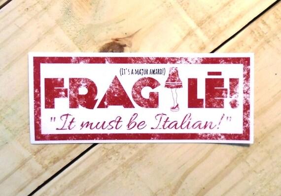 Fragile A Christmas Story 5.5 Vinyl Sticker by McFlyFarm ...