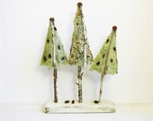 RUSTIC WEDDING DECOR Topiary Trio Natural Home & Woodland Wedding Decor Moss Mini Trees Centerpiece