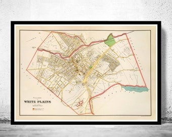 Old Map of White Plains New York 1893