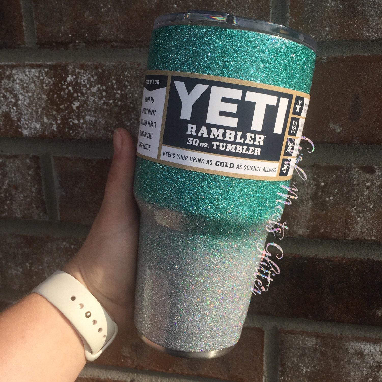 Ombre Glitter Dipped Yeti Rambler 30oz