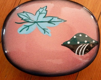 Mid-Century Chuck Line Ceramics of California Covered Dish/ Modern Decor