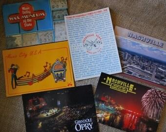 19 Vintage postcards, Nashville, Grand Ole Opry, Music City USA, Tennessee