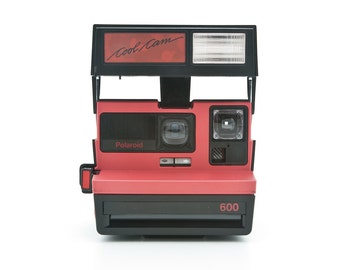 Polaroid 600 Cool Cam Black and Red body Instant Camera - film Tested and Working uses Impossible Project 600 film
