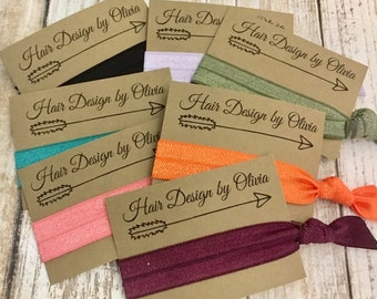 Custom Favors | Hair Tie Favor | Promotional | Teams | Special Event | Create Your Own Card