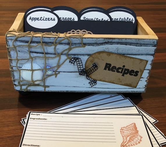 Seaside Recipe Box