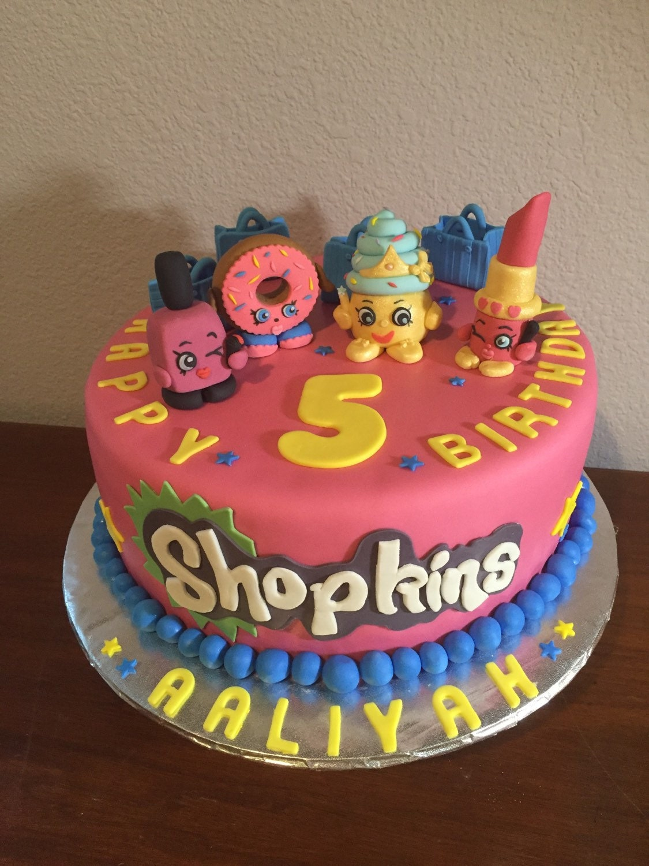 Shopkins inspired cake toppers Lipstick 3D fondant cake