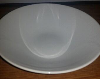 "Rare Vintage LAGARDO TACKETT for Schmid 1961 pure white Ironstone 8"" bowl Farmhouse Style"
