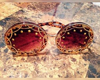 Gold Round Frame Sirens (sunglasses)
