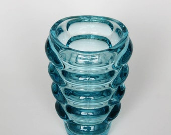 Retro Sklo Union Czech Glass Vase by Vladislav Urban