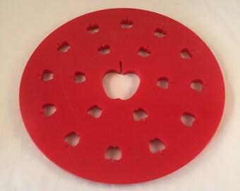"Pie Top Cutter, Apples Imprints, Large 9-1/2"" Wide, Apple Pie Topper"