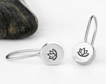 Lotus Flower Earring, Lotus Flower Jewelry, Lotus Flower, Lotus Earrings, Lotus Jewelry, Lotus, Flower Earrings, Yoga Jewelry,  e247s
