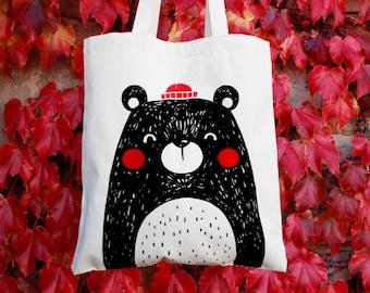 Bear Tote Bag Mr. Oso Bear