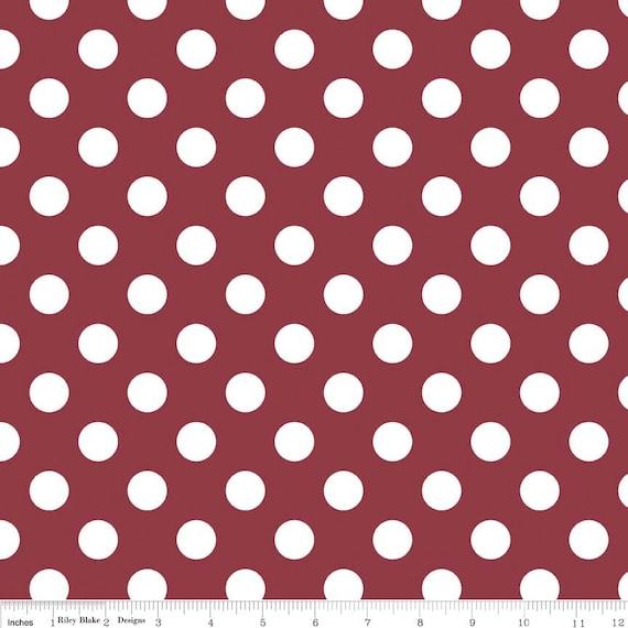 "Dot Fabric Medium 3/4"" Riley Blake"