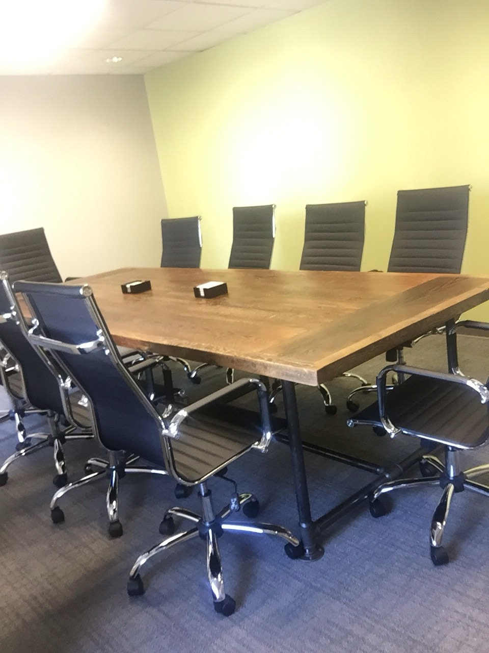 Reclaimed wood dining table conference office table 12 ft for 12 ft conference table