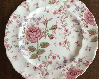 Vintage Johnson Brothers Plate Rose Chintz, England, Collectible China, Wedding Gift, English Country, Cottage Style, Garden Party, Gift, R