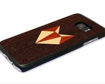 Fox Samsung Galaxy S7 Case - Fox Galaxy S7 edge Wood Case - High Quality - Made in Europe / FREE Shipping! Samsung s7 original wooden case