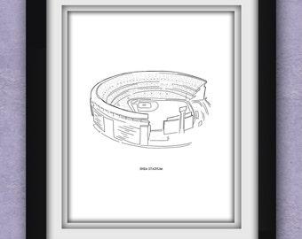 New York Shea Stadium Print