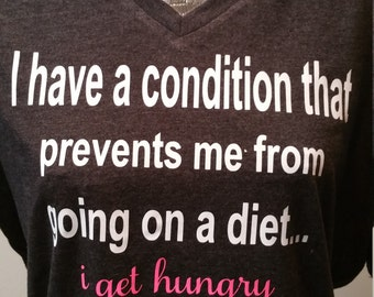 Funny Shirt about dieting, I am hungry diet shirt, New year diet
