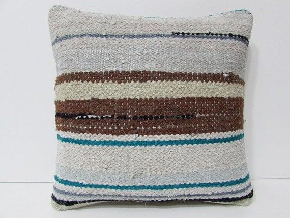 White Cream Throw Pillows : cream decorative pillow white throw pillow brown kilim pillow