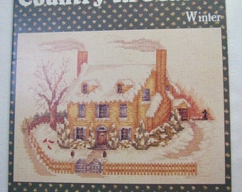 "Creative Keepsakes ""Country In Season Winter"" Cross Stitch Booklet"