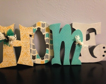 Home letters. Home decor. Wood home decor
