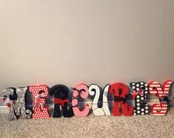 Custom wood letters. Wood letters. Nursery letters. 1st birthday centerpieces