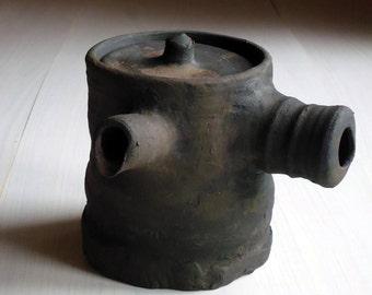 Wabi Sabi ceramic Teapot. Wood fired pottery