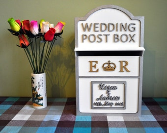 Personalised Painted Wedding Post Box Complete Any Colour