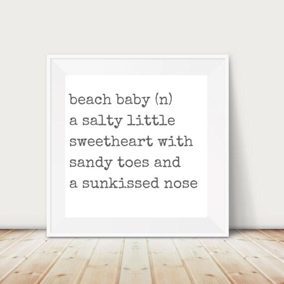Beach Baby Nursery Art Print | Baby Girl | Nautical Baby | Ocean Baby | Printable Baby Shower I Printable Nursery