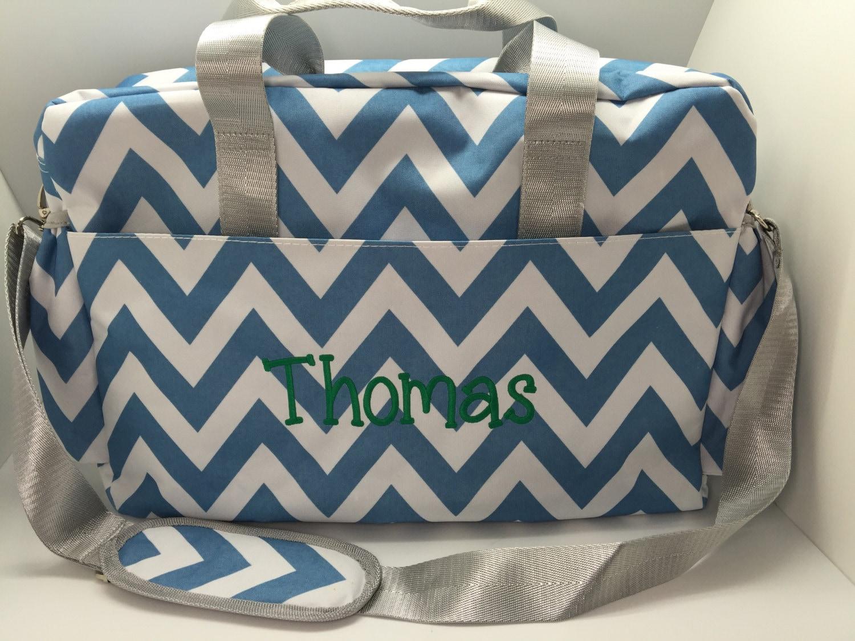 personalized diaper bag monogrammed bag baby boy shower. Black Bedroom Furniture Sets. Home Design Ideas
