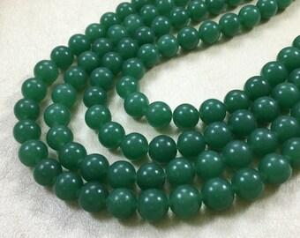 one full strand semi precious gemstone 10 mm  jade beads  for jewelry making(C572)