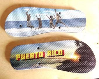 Vacation Photos Flip Flops