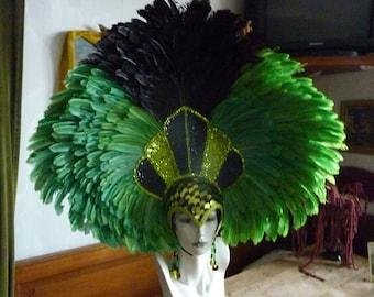 Carneval in Rio headjewellry, featherjewellry