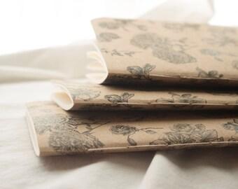 Hand-bound Floral Notebook