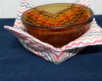 Microwave bowl cozy.