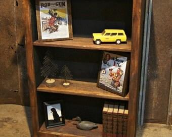 Three Shelf Bookcase with Hidden Gun Storage