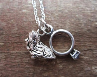 Maltese Ring Large Sterling Silver Necklace