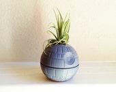 Death Star planter, air plant holder, desk planter, paper weight, geekery