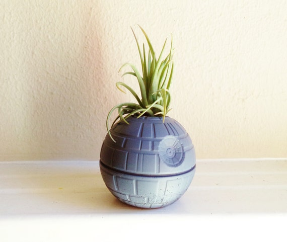 Death Star planter, air plant holder, desk planter, paper weight, geekery