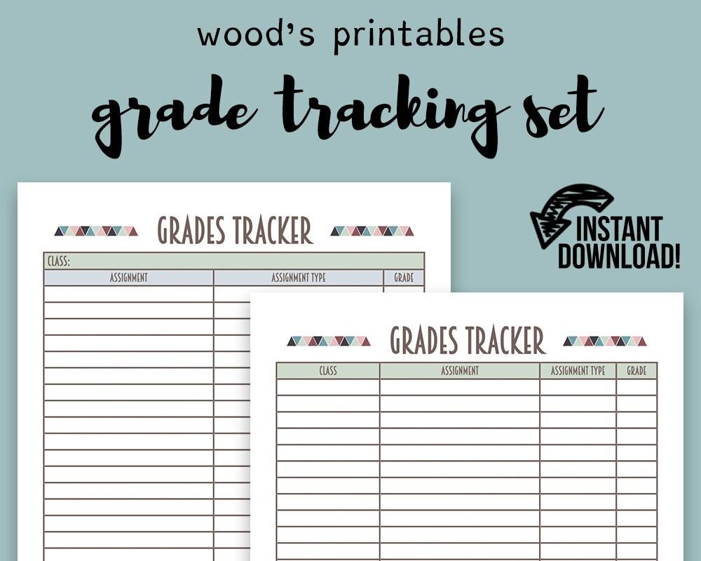 Grade Tracker Organizer Printable Related Keywords