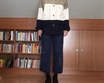 Neutral Color Block Jacket