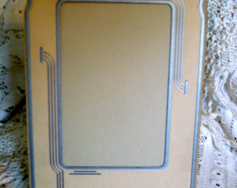 Two Art Deco Covered Photograph Card Stock Frames  Excellent Vintage Condition