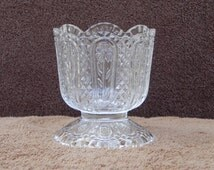 Vintage Glassware Fostoria Glass Daisy Design Candleholder, Candlestick, Bowl, or Compote by Avon