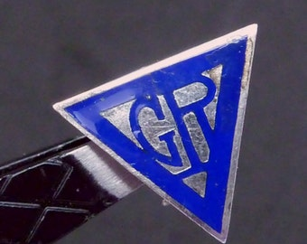 Vintage 1930s YWCA Girl Reserves Silver Enamel Pin 22330