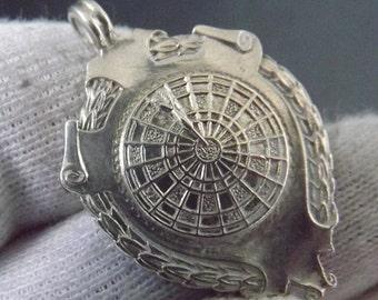 Vintage Sterling Silver Fob Darts Medal