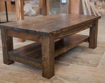 farmhouse coffee table rustic coffee table solid wood farmhouse coffee table built to